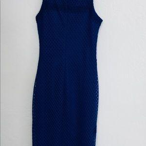 River Island Dresses - River island Mesh Bodycon Cobalt Blue Dress